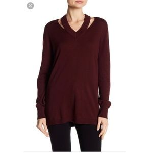 Vince Camuto cutout Neck Sweater size large